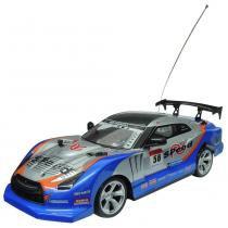 Carrinho de Controle Remoto Drift Champion R/C 2759 Buba - Azul - Buba