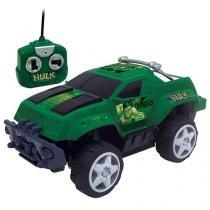 Carrinho de Controle Remoto Os Vingadores Hulk - Mimo 7 Funções