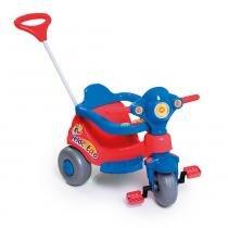 Carrinho Infantil Velocita com Aro Protetor Vermelho/Azul 958 - Calesita - Calesita