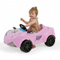 Carrinho Infantil Xtreme Girl com Pedal Rosa 04896 - Xalingo - Xalingo
