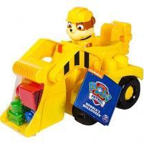 Carrinho Patrulha Canina Ionix Jr - Veículo de Construção do Rubble - Sunny Brinquedos