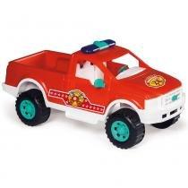 Carrinho Pick-Up Bombeiro Vermelho/Branco 407 - Calesita - Calesita