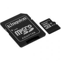 Cartão de Memória 16GB Micro SDHC com Adaptador - Kingston SDC10