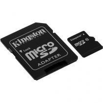 Cartão de Memória 64GB Micro SDHC com Adaptador - Kingston SDC10