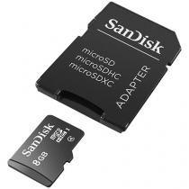 Cartão de Memória 8GB SD com Adaptador - SanDisk
