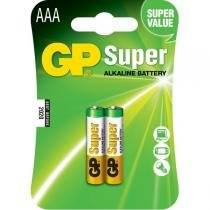 Cartela com 2 Pilhas Palitos Super Alcalinas AAA 1,5V - GP Batteries GP2AAASA - GP Batteries