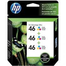 Cartucho de Tinta HP Colorido - Tri-Color HP46 Pacote Duplo