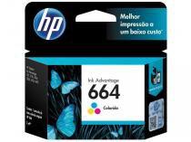 Cartucho de Tinta HP Colorido - Tri-Color HP664