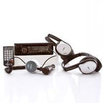 CD/MP3 Player Automotivo Hyundai + Kit Veicular Portátil c/ 2 Fones s/ Fio - Hyundai
