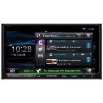 "Central Multimídia Kenwood DNN9150BT LCD 6,95"" - Entrada para Câmera de Ré USB Bluetooth Auxiliar"