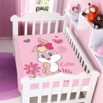 Cobertor de Bebê Looney Tunes Baby Cutie - Jolitex - Rosa - Jolitex