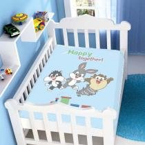 Cobertor de Bebê Looney Tunes Baby Happy Together! - Jolitex - Azul - Jolitex