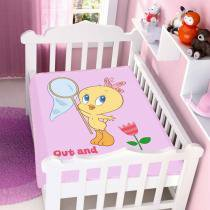 Cobertor de Bebê Looney Tunes Baby Out And About - Jolitex - Rosa - Jolitex