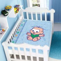 Cobertor de Bebê Turma da Mônica Baby Cebolinha Feliz - Jolitex - Azul - Jolitex