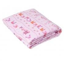 Cobertor de Enrolar Karinho Estampado Fada Castelo Rosa - Papi - Papi