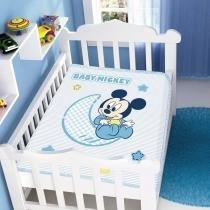 Cobertor Infantil Disney Baby Mickey - Jolitex - Azul - Jolitex