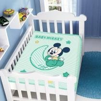 Cobertor Infantil Disney Baby Mickey - Jolitex - Verde - Jolitex