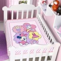 Cobertor Infantil Disney Minnie Brincando de Boneca - Jolitex - Minnie - Jolitex