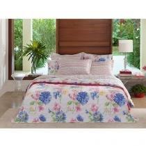 Colcha/Cobre-Leito Casal Santista Home Design - Mila 3 Peças 100% Algodão