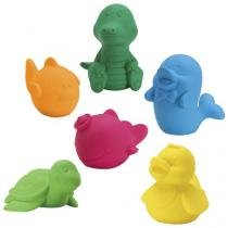 Coleção Bichinhos Banho 6 Peças - Roma Brinquedos