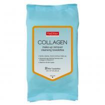 Collagen Makeup Remover Cleansig Towelettes Purederm - Lenço Demaquilante Colágeno - 30 Unidades - Purederm