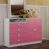 Cômoda com 2 Portas Meu Fofinho Rosa - Art in Móveis - rosa - Art in Móveis