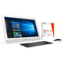 """Computador All in One HP 20-e001br Intel Dual Core - 2GB 500GB LED 19,45"""" Windows 10 + Pacote Office"""