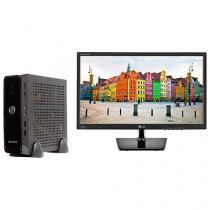 "Computador Braview Mini Truck i3M01-1 Intel Core - i3 4GB 500GB Linux + Monitor LG LED 19,5"""