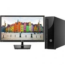 "Computador HP 200 G1 Slim Tower Intel Celeron - 4GB 500GB Windows 10 + Monitor LG LED 19,5"""