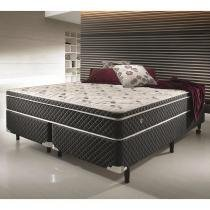 Conjunto Cama Box King Size Soft Comfort Preto - Antiácaro, Antifungo e Antialérgico - 193x203x60cm - Ecoflex
