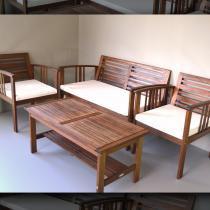 Conjunto Cancun - Markine Mobilier - Marrom - Wood Group