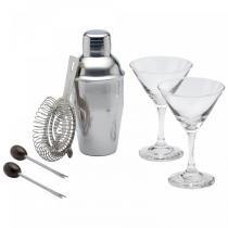 Conjunto Cocktail Bar Luxe Lounge Mini Martini 6 Peças Kitchen Craft - Kitchen Craft