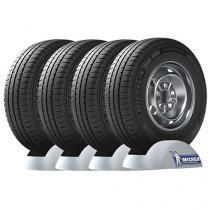 Conjunto de 4 Pneus Michelin 205/70 R15C Aro 15 - Agilis R para Van e Utilitários
