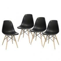 Conjunto de Cadeira para Cozinha 4 Peças - Inovakasa Itália Eames