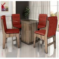Conjunto de Mesa 4 Cadeiras Dobuê Movelaria - Amsterdam