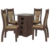 Conjunto de Mesa 4 Cadeiras - Milão Celta Móveis