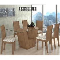 Conjunto de Mesa 6 Cadeiras Lopas - Fiorella
