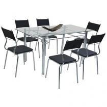 Conjunto de Mesa 6 Cadeiras Somopar - Tuane