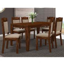 Conjunto de Mesa Bela com 6 cadeiras - Dj Móveis
