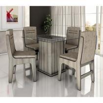 Conjunto de Mesa com 4 Cadeiras Amsterdam - Movale