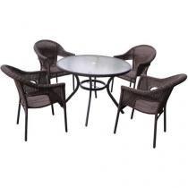 Conjunto de Mesa com 4 Cadeiras Atacama - Mor