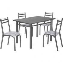 Conjunto de Mesa com 4 Cadeiras Ciplafe - Clássica Plaza