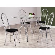 Conjunto de Mesa com 4 Cadeiras Design Final - Madri
