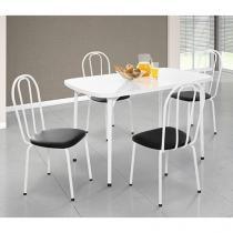 Conjunto de Mesa com 4 Cadeiras Estofadas - Formóveis
