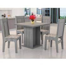 Conjunto de Mesa com 4 Cadeiras Jade - JA Móveis