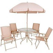 Conjunto de Mesa com 4 Cadeiras Malibu - Mor