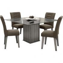 Conjunto de Mesa com 4 Cadeiras Movale - Vegas