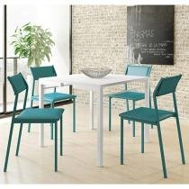 Conjunto de Mesa com 4 Cadeiras Móveis Carraro - Aquarela