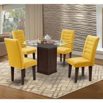Conjunto de Mesa com 4 Cadeiras Vegas - Movale