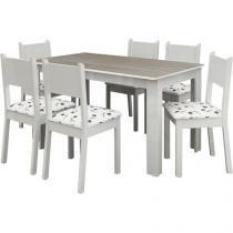 Conjunto de Mesa com 6 Cadeiras Estela - Madesa